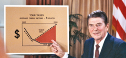 Reagan Cut Taxes, Revnue Boomed WSJ Artwork