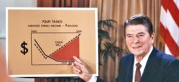 Reagan Cut Taxes, Revnue Boomed WSJ Artwork